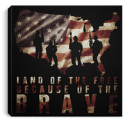 "Land of the Free Canvas Housewares CustomCat Black 8"" x 8"""