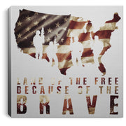 "Land of the Free Canvas Housewares CustomCat White 8"" x 8"""