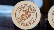 Military Branch Coasters - Set of 4 American Grains LLC