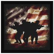 Brothers In Arms - Square Canvas Canvas Wall Art 2 teelaunch 8 x 8