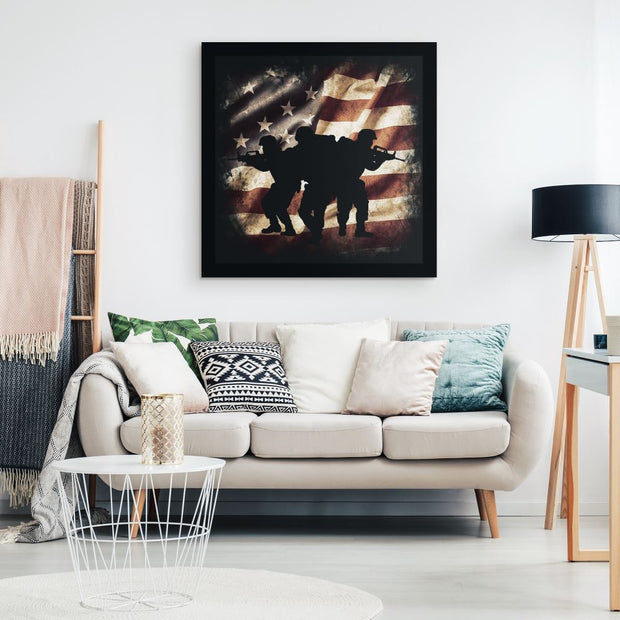 Brothers In Arms - Square Canvas Canvas Wall Art 2 teelaunch