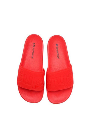 Superga Pool Slides-Red