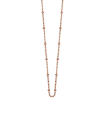 "Bespoke Ball Chain 16"" to 18"" Rose Gold - Lokamo"
