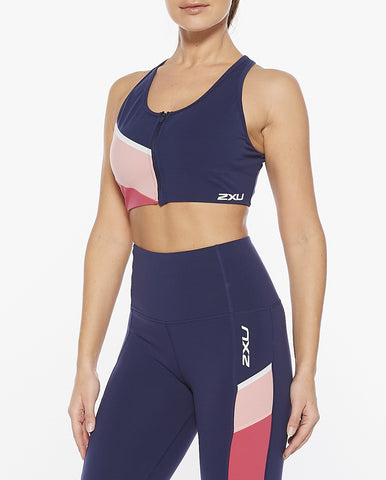 Active Colour Block Zip Crop