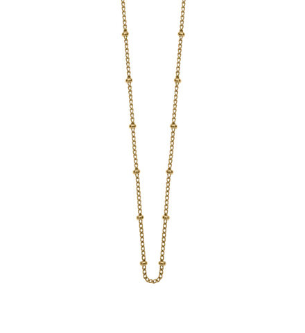 "Bespoke Ball Chain 16"" to 18"" Gold - Lokamo"