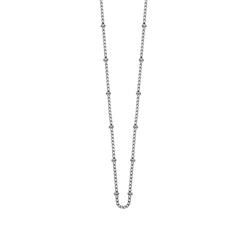"Bespoke Ball Chain Long 22-25"" Sterling Silver"