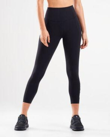 Fitness New Heights Comp 7/8 Tights - Black/White
