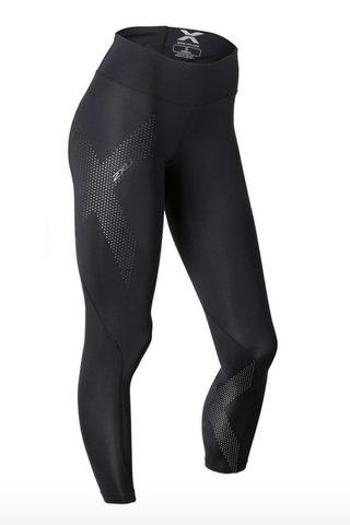 Womens Mid-Rise 2XU Compression Full Length Tight