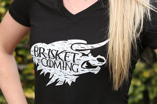 Women's V-Neck - Brisket is Coming