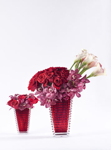 Baccarat Eye Vase - Ruby