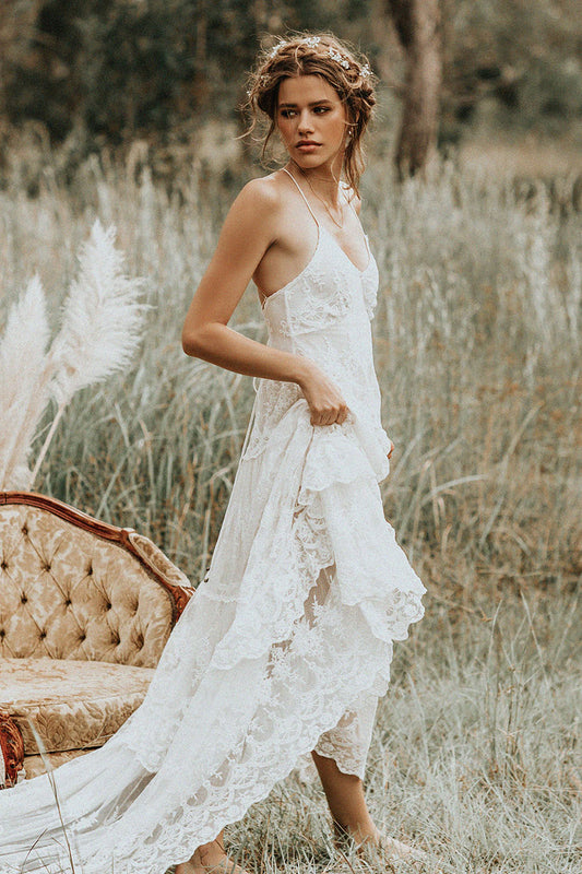Gypsy Wedding Dresses.Canyon Moon Mesh Gown