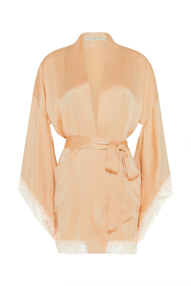 Wild Love Silk Short Robe