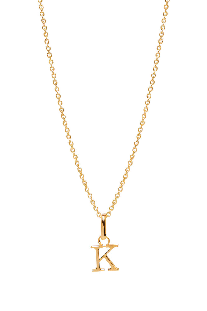 Wild Love Letter Charm Necklace - K