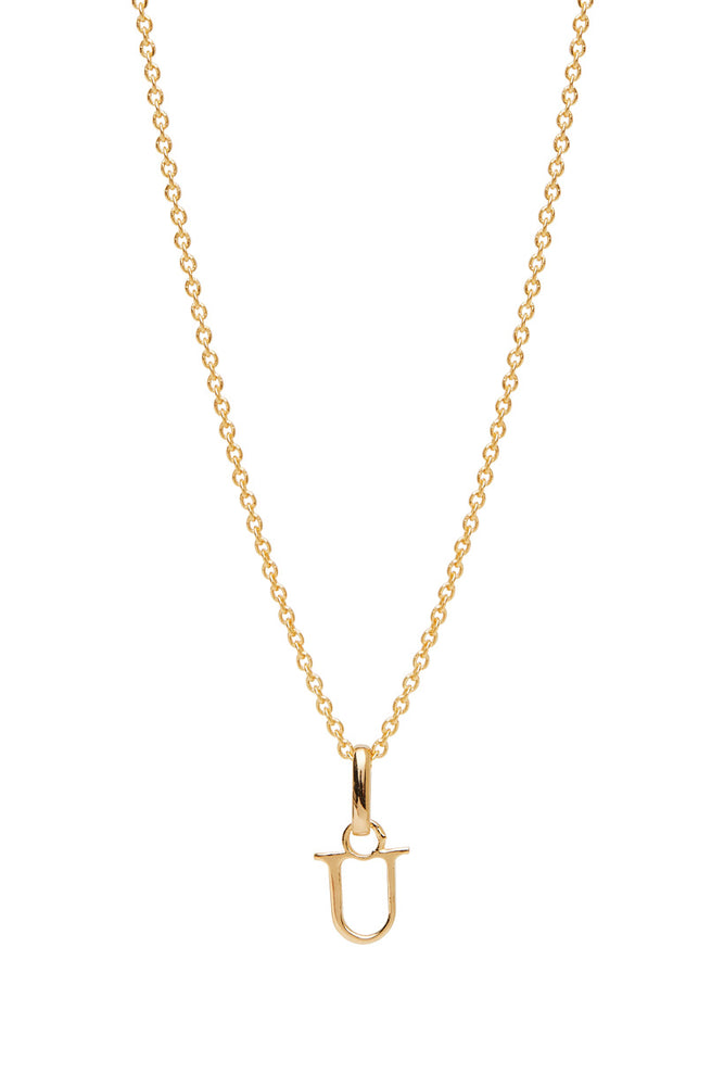Wild Love Letter Charm Necklace - U