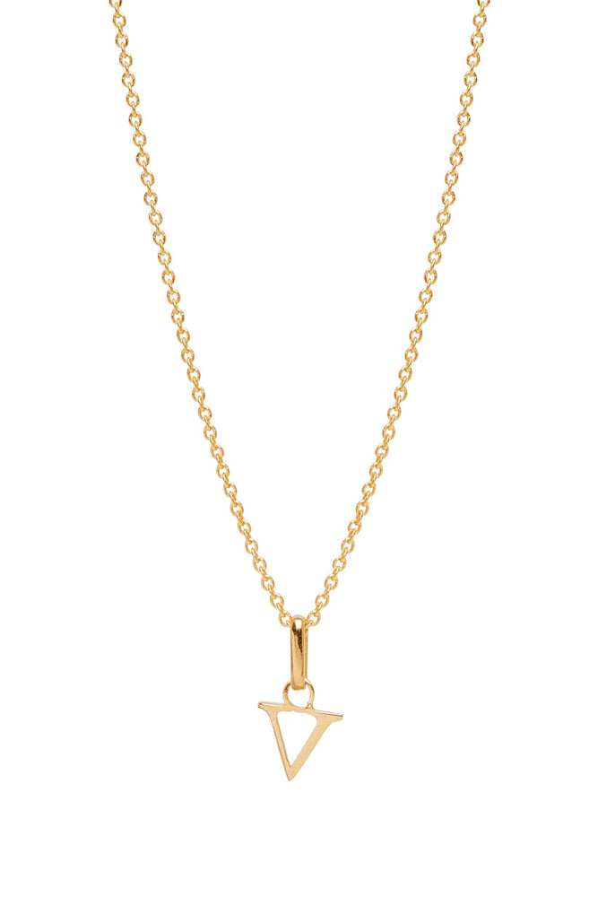 Wild Love Letter Charm Necklace - V