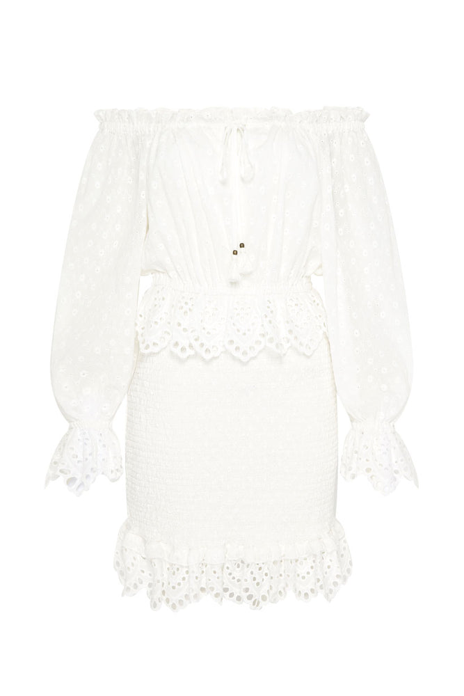 Daisy Chain Ruched Mini Dress