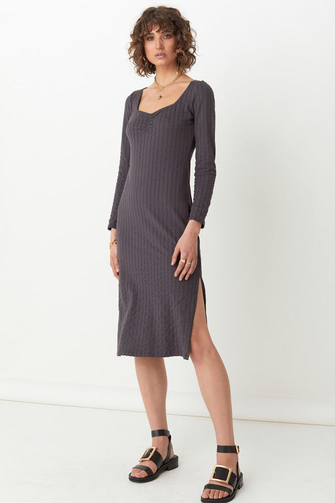 Bonnie Organic Rib Midi Dress