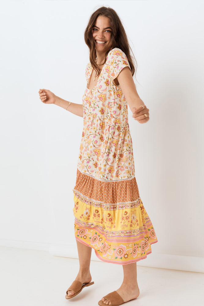 Portobello Road Babydoll Midi Dress