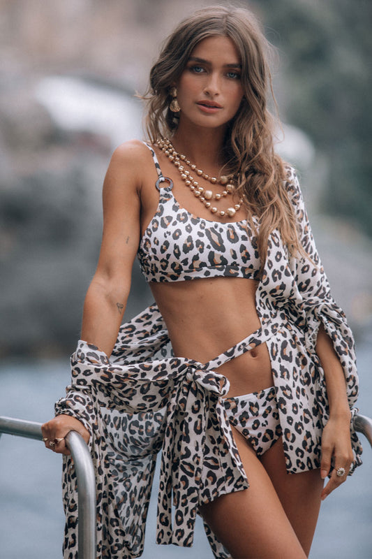 Bodhi Leopard Crop Top