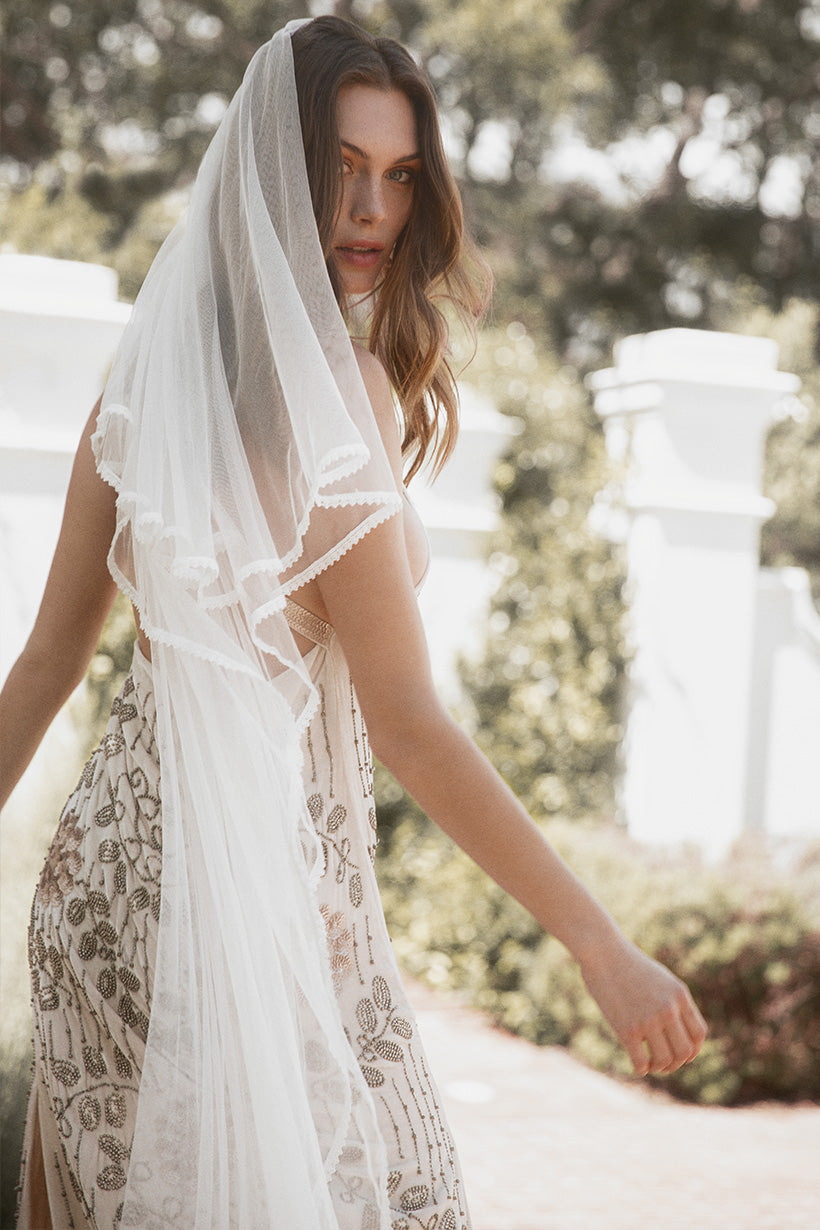 Marion Pascale wears Spell Zoe Mesh Veil