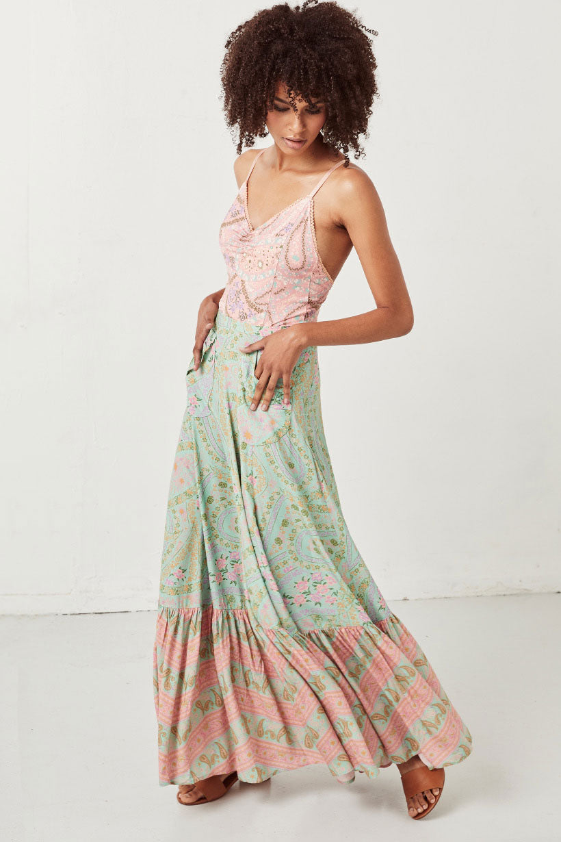 Spell Designs City Lights Maxi Skirt
