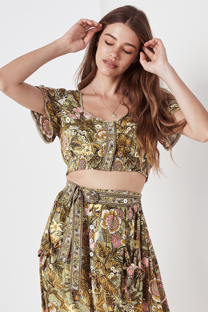 Spell Jungle Cropped Top