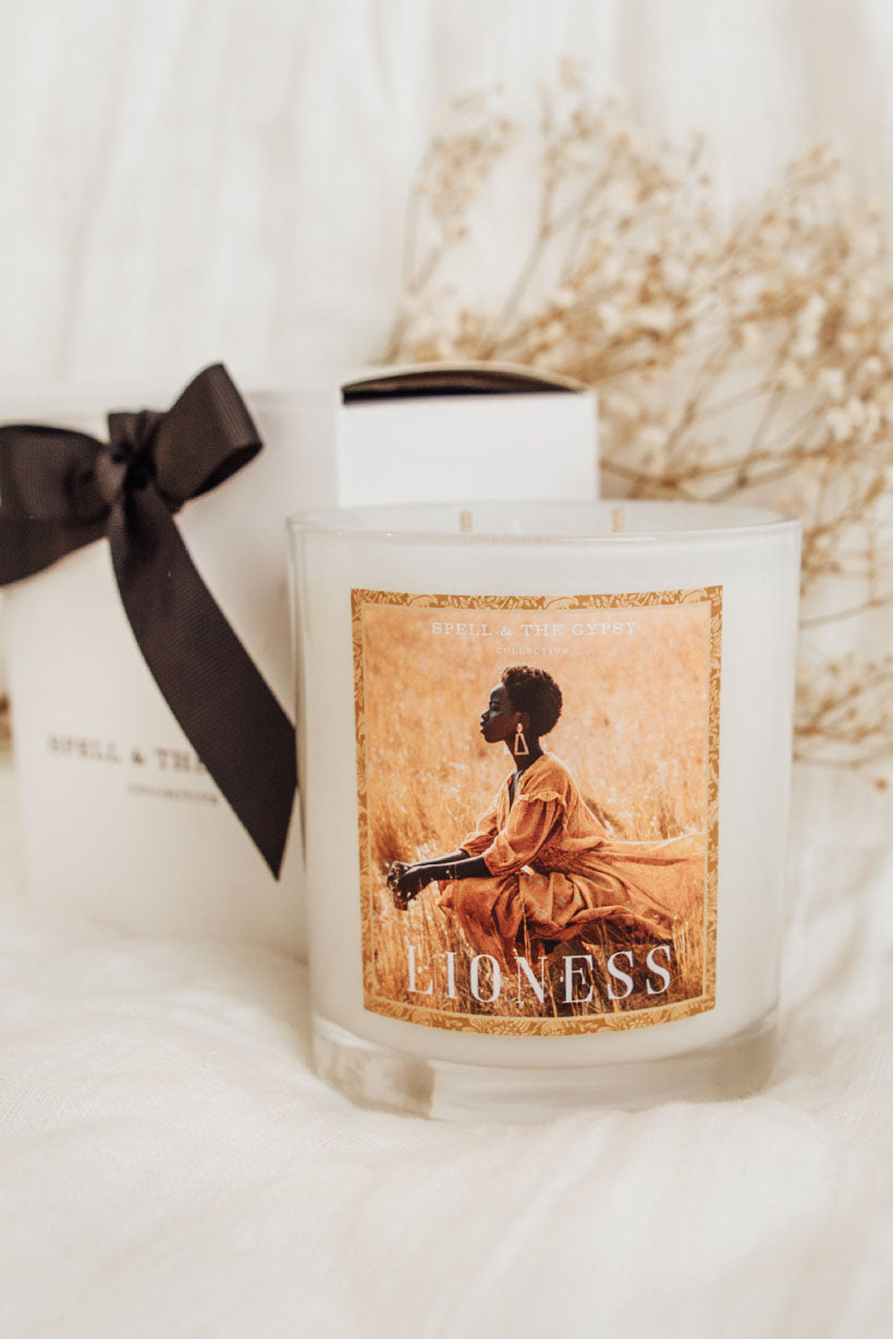 Spell Lioness Candle