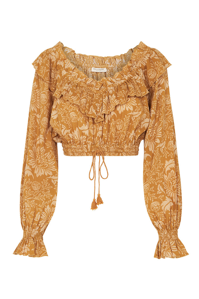 Spell Lioness Peasant Blouse #rollover