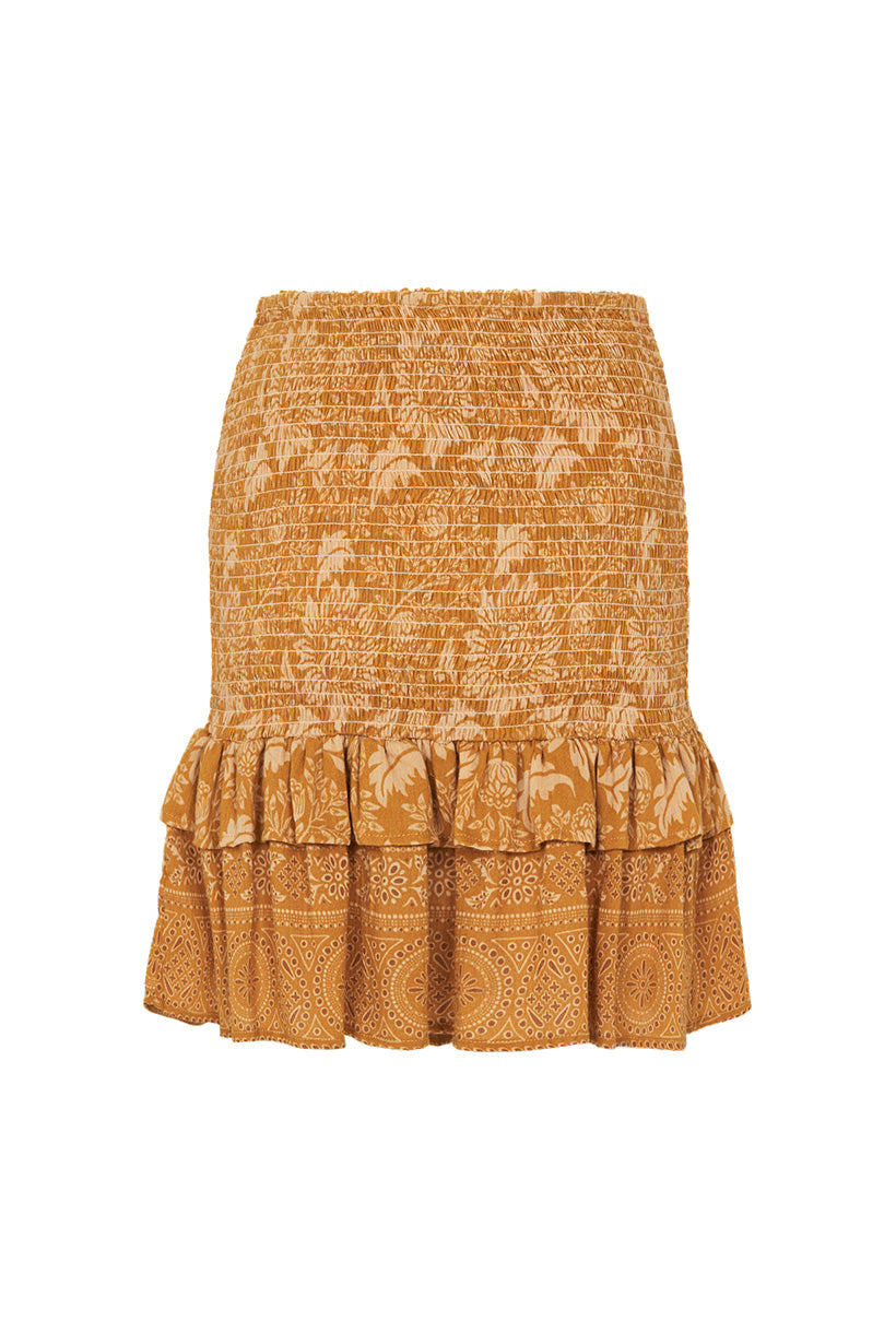 Spell Lioness Ruched Mini Skirt