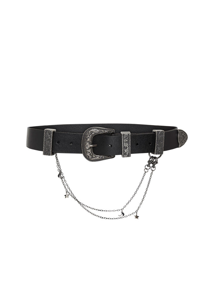 Mystic Leather Charm Belt
