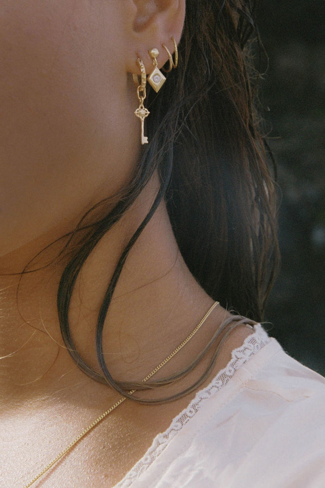 Open Heart Petite Hoop Earrings