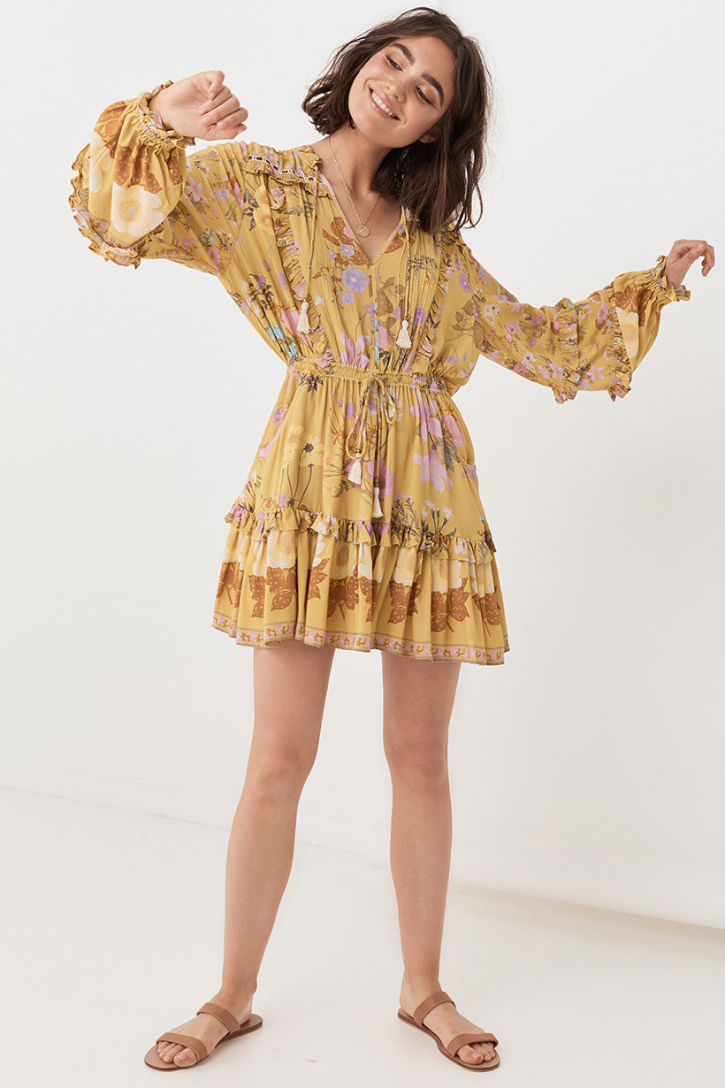Spell Wild Bloom Long Sleeve Playdress