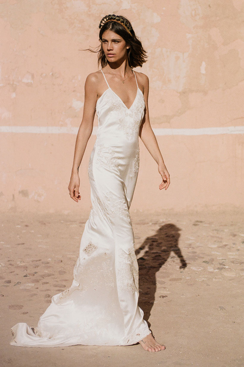 Mila De Wit-Bourke wears Spell Designs Odette Slip Dress
