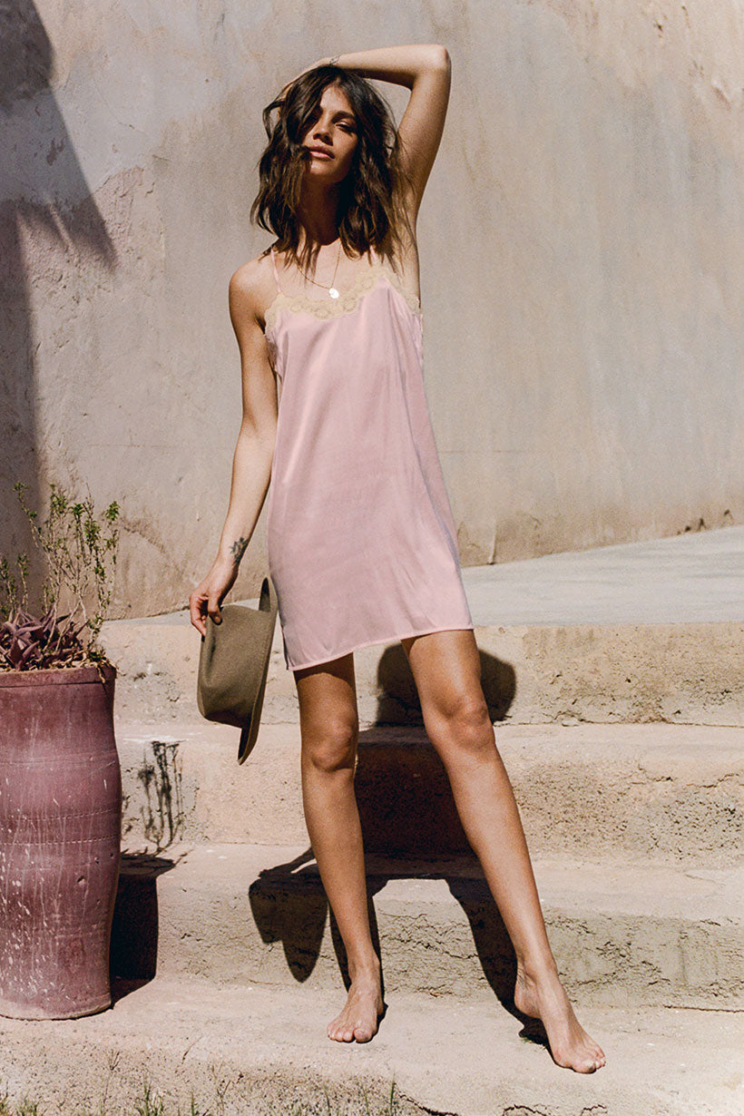 Mila De Wit-Bourke wears Spell Designs Maple Slip Dress