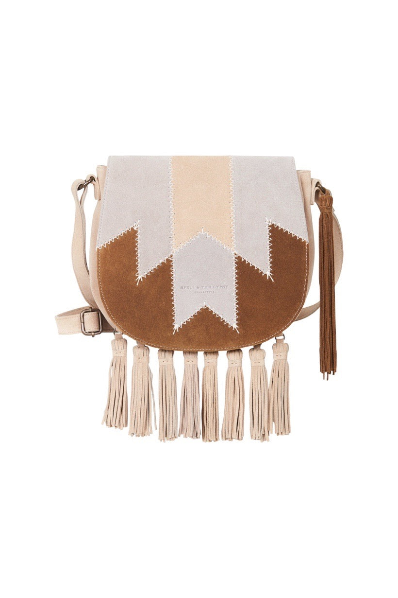 Spell Designs Zephyr Patchwork Saddle Bag #rollover
