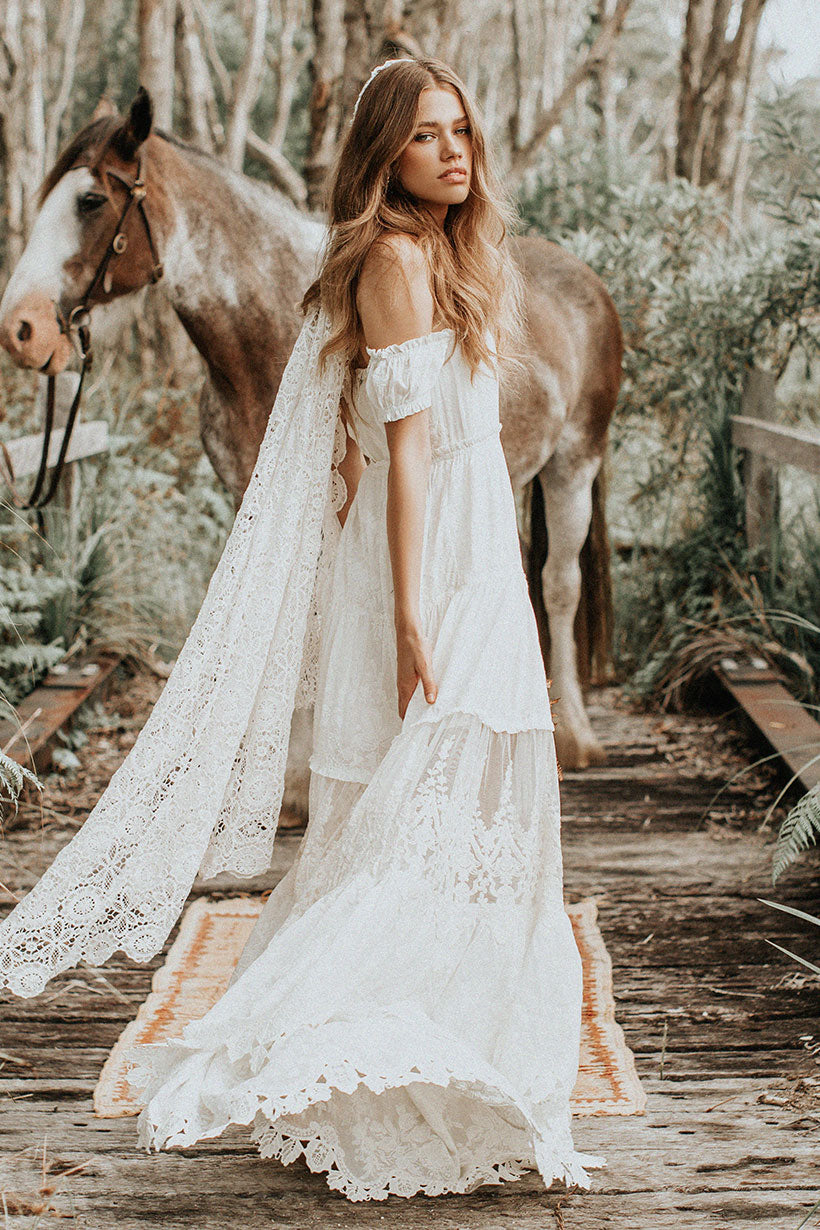 Isabell Andreeva wears Spell Bride Amelie Gown