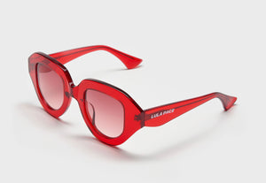 lula pace sunglasses for women in red with red lens mazzucchellli acetate high quality premium luxury eyewear