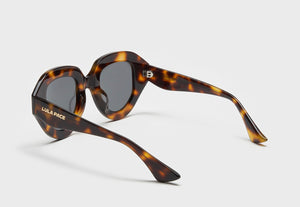 lula pace sunglasses for women in tortoise shell with grey lens mazzucchellli acetate high quality premium luxury eyewear