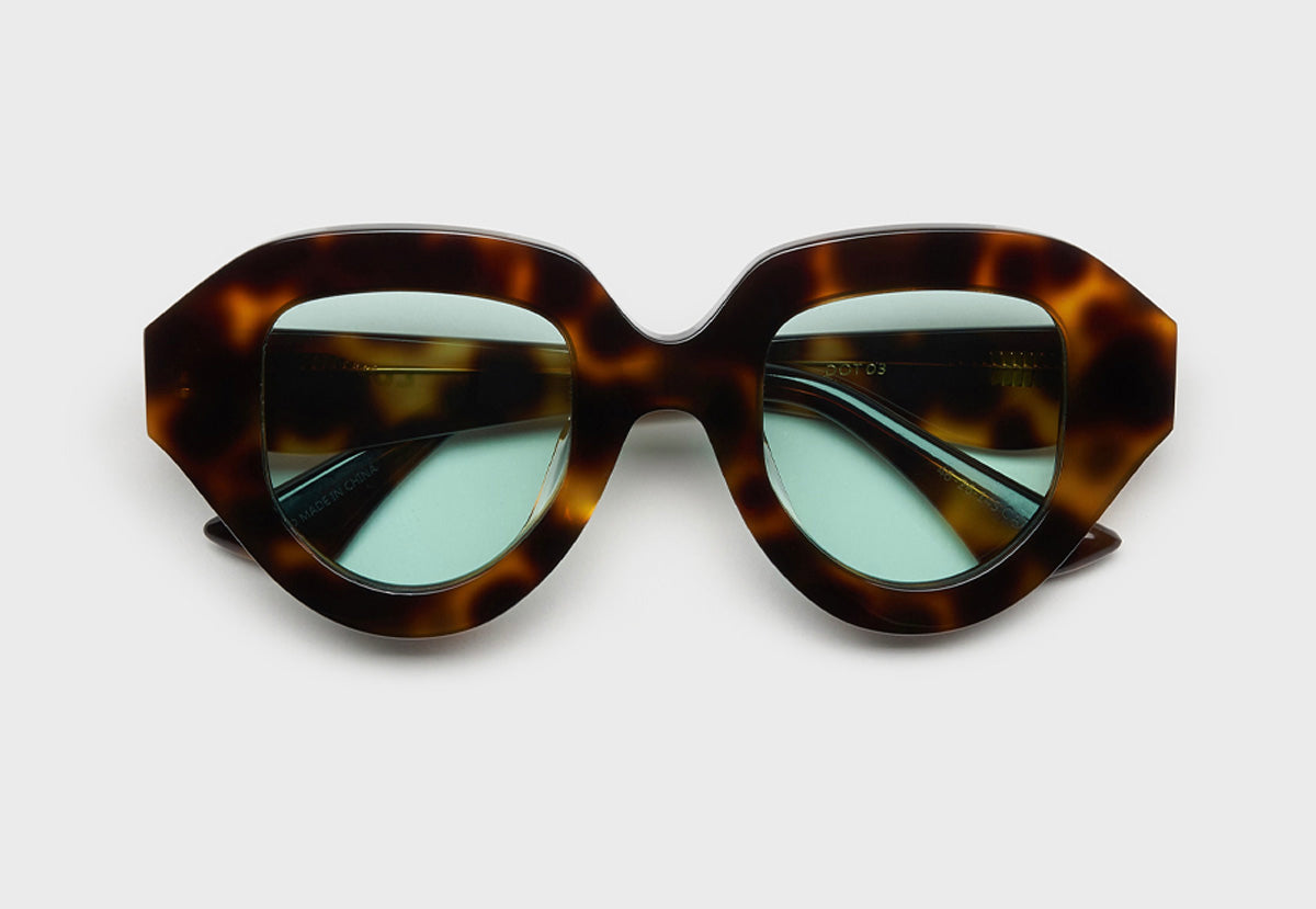 lula pace sunglasses for women in tortoise shell with teal lens mazzucchellli acetate high quality premium luxury eyewear