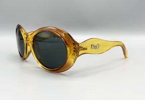D&G Amber Oval 90s Sunglasses