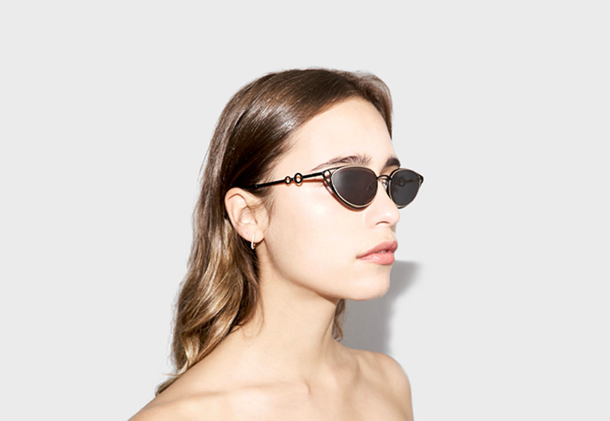 lula pace sunglasses for women metal titanium black gold high quality premium luxury eyewear