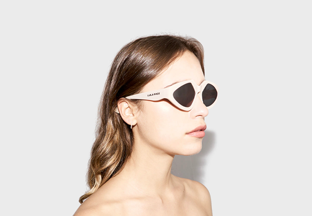 lula pace sunglasses for women in cream bone mazzucchellli acetate high quality premium luxury eyewear