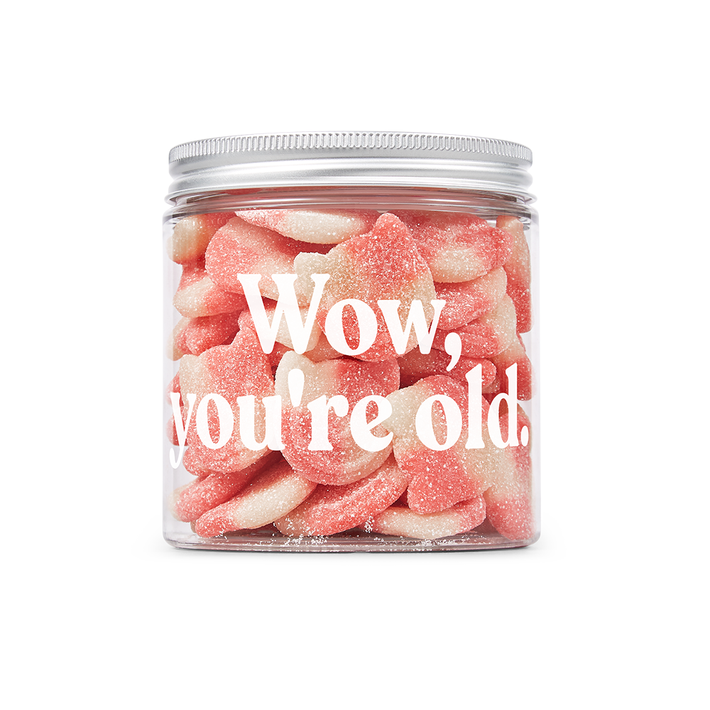 wow you're old candy kittens jar