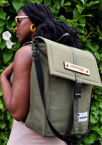 Goodstart Jones woodless olive backpack rucksack