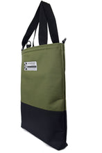 Load image into Gallery viewer, Olive tote bag by Goodstart Jones half black collection side view