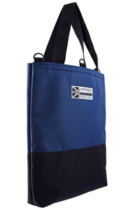 Goodstart Jones Half Black Blue tote bag
