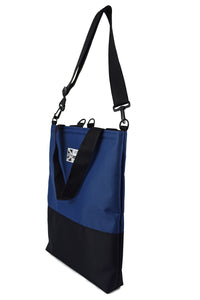 Good start Goodstart Jones Half Black Blue tote bag