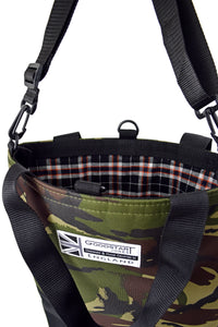 Open tote bag camouflage Half black by Goodstart Jones