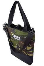 Load image into Gallery viewer, Camouflage Half Black tote bag by Goodstart Jones