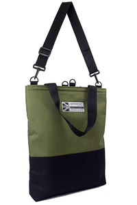 HALF BLACK Tote Bag | OLIVE